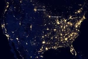 Así se ve Estados Unidos de noche desde el espacio (Foto)