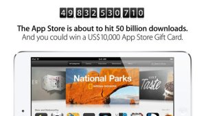 Apple regalará diez mil dólares a quien descargue la aplicación 50.000 millones