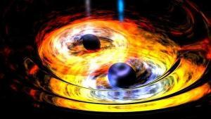 Detectan tres agujeros negros supermasivos en galaxias que se están fusionando