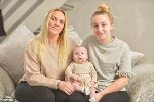 Sufría jaqueca, cayó en coma y cuatro días después despertó con un bebé sorpresa en los brazos (Fotos)
