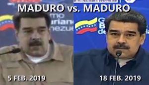 El insólito tira y encoje de Maduro con la ayuda humanitaria en solo 14 días (VIDEO)