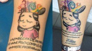 El tatuaje en honor a su hija con autismo que conmovió a Twitter y al creador del dibujo
