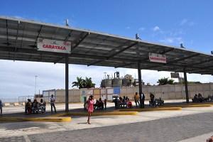 Solo dos autobuses trabajan para Carayaca