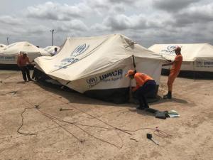 La ONU abre el primer campamento para migrantes venezolanos en La Guajira