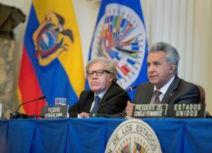 Luis Almagro y Lenín Moreno lamentan la muerte del expresidente Alan García