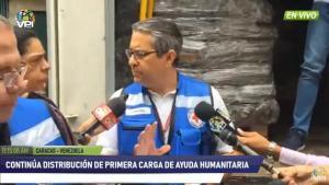 Ayuda humanitaria es trasladada al hospital de la Cruz Roja en Caracas #17Abr