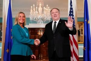 Pompeo y Mogherini conversaron sobre diversos temas, entre ellos Venezuela