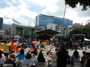 Así se encuentra la Plaza Alfredo Sadel ante la sesión de calle convocada para este #23Jul (fotos)