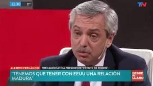 Candidato argentino Alberto Fernández apoya plan de Uruguay y México de generar un canal de diálogo para Venezuela (Video)