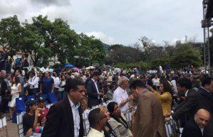 VIDEO: Diputados de la AN en la Plaza Alfredo Sadel para sesión de calle #23Jul