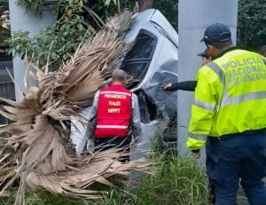 Comerciante portugués falleció en aparatoso accidente en la Valle-Coche #25Ago (Fotos)