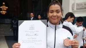 Una venezolana entre los medallistas condecorados en Perú tras los Panamericanos