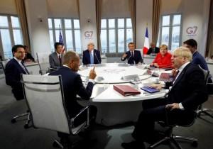 El G7 encarga a Macron que hable con Irán sobre el acuerdo nuclear