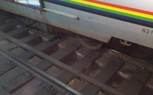 Caos y varios heridos dejó el tren descarrilado del Metro de Caracas (Fotos)
