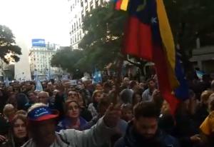 Venezolanos en Argentina salen a las calles para respaldar a Macri (Fotos y Videos)