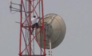 Un hombre tomó una antena de transmisión de un canal de televisión en Florida