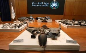 Arabia Saudita reveló los restos de los drones iraníes que atacaron su refinería (Fotos)