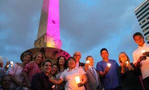 Senosalud encenderá de rosado el Obelisco de la Plaza Francia por 12° año consecutivo