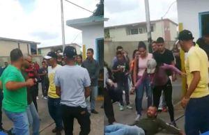 Estudiante agredió a un profesor durante protesta universitaria en Anaco (Video)