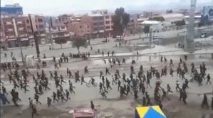 """""""Guerra civil"""", el grito de la horda a favor de Evo Morales en las calles de La Paz (VIDEOS)"""