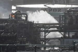 Incendio en una refinería de Total en Francia