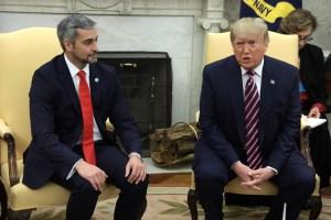Trump conversará sobre la crisis venezolana en la reunión con el presidente de Paraguay