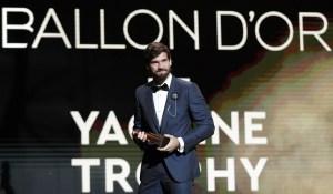 Alisson Becker se quedó con el primer galardón Yashin al mejor portero de 2019