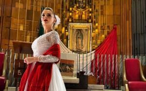 """Marjorie de Sousa le cantó """"Las Mañanitas"""" a la Virgen de Guadalupe (video)"""
