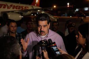 Maduro llegó a Cuba para participar en la primera cumbre del Alba sin Evo