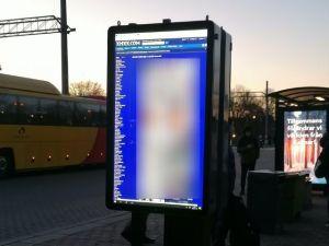 Transmiten pornografía en una estación ferroviaria en Suecia