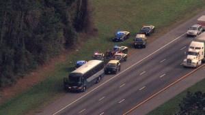 Sospechoso asesinado atrapado en un autobús Greyhound en Florida