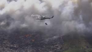Incendio estalla en vertedero en Homestead