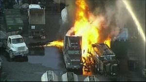 Camiones se incendian en NW Dade Business