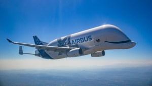 """Airbus presentó el """"Beluga XL"""", una aeronave gigante con forma de ballena voladora (Fotos y Video)"""