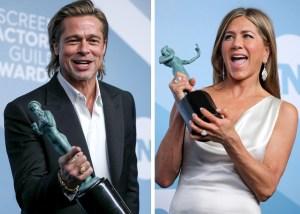Donde hubo fuego… Brad Pitt y Jennifer Aniston acaparan la atención en los SAG (FOTOS)