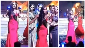 Miss Colombia rompió el protocolo y denunció FRAUDE… ¡en pleno evento! (VIDEO)