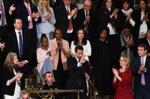 La presencia de Guaidó en el estado de la Unión es la guinda de su gira internacional