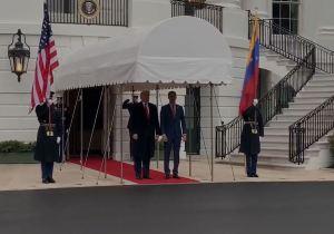 EN VIDEO: Juan Guaidó es recibido por Donald Trump en la Casa Blanca