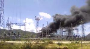 """Explosión en subestación """"Los Millanes"""" dejó sin electricidad a varios sectores de Margarita (Video)"""
