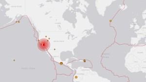 Sismo de magnitud 5,8 sacudió California, según USGS