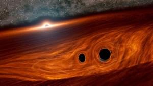 Astrónomos registraron el destello de luz emitido por la colisión de dos agujeros negros