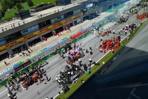 Ceremonia sin podio y con mascarillas este domingo en el GP de Austria