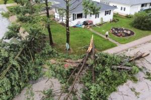 Un rara tormenta deja a 1,1 millones de personas sin electricidad en Chicago