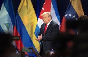 Trump: Venezuela quiere hablar con nosotros, pero tiene que esperar hasta después de las elecciones