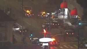 Oficial de Los Ángeles fue herido en la cabeza tras enfrentamiento dentro de la estación policial