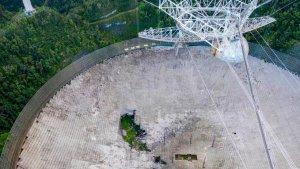 Colapsó el histórico telescopio de Arecibo en Puerto Rico
