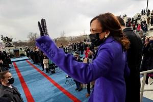 Por qué el color púrpura estuvo tan presente en la investidura de Biden