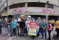 Caraqueños protestaron por pasar meses sin internet pese a tarifas dolarizadas de Cantv