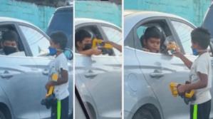 VIRAL: El tierno gesto de un niño con otro pequeño limpiavidrios que revoluciona las redes (VIDEO)