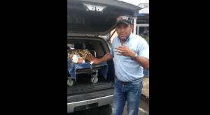 ¡Inhumano! Así trasladan a los pacientes por falta de combustible en Portuguesa (Video)